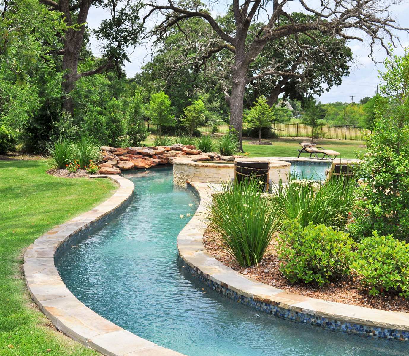 How To Design Your Backyard: College Station Pool Water Features Photo Gallery Brazos